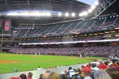 Stadionljus på en basebollarena Royaltyfri Foto