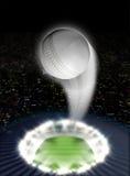 Stadionnacht met Bal Swoosh Royalty-vrije Stock Afbeelding