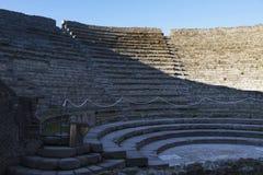 Stadionplacering i Pompeii Arkivbilder