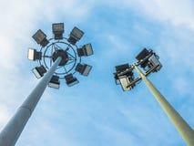 Stadions-Lichter an Live Sporting Event oder an einem Konzert Lizenzfreies Stockfoto