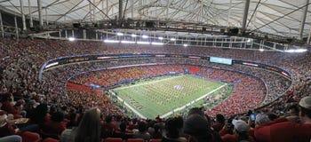 Stadionsikt av pregame Arkivfoto