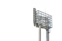 Stadionslichter auf weißem Hintergrund Stockbild