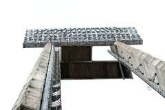 Stadionslichter, lokalisiert Stockbild