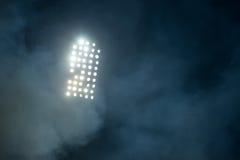 Stadionslichter und -rauch Lizenzfreie Stockfotografie