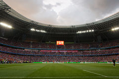 Stadionsmenge ultras Stockfoto
