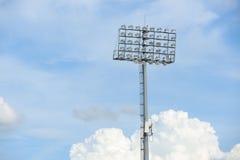 Stadionsscheinwerferlicht Lizenzfreies Stockbild
