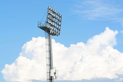 Stadionsscheinwerferlicht Stockbilder