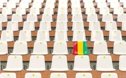 Stadionssitz mit Flagge der Guine stock abbildung