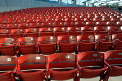 Stadionstühle Stockfoto