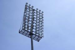 Stadionstrålkastare Arkivfoto