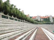 Stadionstreppe Stockbild