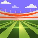 Stadionu baseballowego c trybuny i gazon ilustracji