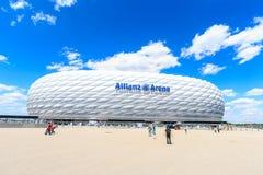 Stadionu futbolowego Allianz arena Obrazy Royalty Free