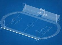 Stadionu futbolowego architekta projekt Obrazy Royalty Free