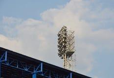 Stadionu futbolowego lekki słup Obraz Royalty Free