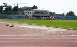 Chisinau dinamo stadium. Stadionul Dinamo is a multipurpose stadium in Chişinău, Moldova. In Soviet times it was the main stadium in the city, it is royalty free stock photo