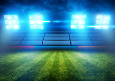 Stadionów Futbolowych światła Zdjęcia Stock