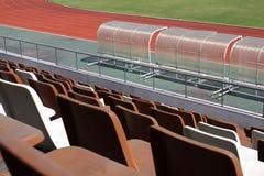Stadionzetels royalty-vrije stock afbeelding