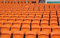 Stadionzetels voor bezoekers wat sport of voetbal Stock Afbeeldingen