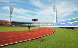 Stadium. A stadium showing running pitch royalty free stock images