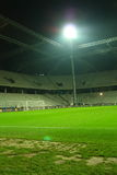 Stadium. Night image of the Legia Warsaw Stadium before the friendly match between Poland and Romania on November 14, 2009 in Warsaw, Poland Stock Photos