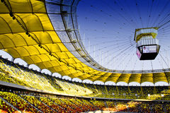 Stadium. Roof with a big screen Stock Image
