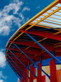 Stadium. Football stadium detail in the city of Leiria, Portugal Royalty Free Stock Photos