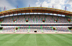 Stadium. With seats of several colors Stock Photo