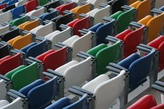 Stadium. Rows of benches in a stadium royalty free stock image