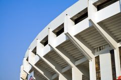 Stadium. Against clear blue sky Royalty Free Stock Photos