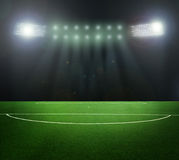 On the stadium. Abstract football or soccer backgrounds Stock Photo