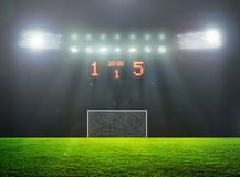 On the stadium. Abstract football or soccer backgrounds Royalty Free Stock Photography
