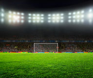 On the stadium. Abstract football or soccer backgrounds Royalty Free Stock Photos