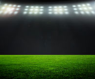 On the stadium. Abstract football or soccer backgrounds Royalty Free Stock Images