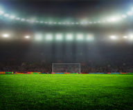 On the stadium. Abstract football or soccer backgrounds Royalty Free Stock Image