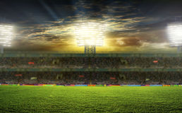 On the stadium. abstract football or soccer backgrounds royalty free stock photo