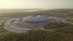 Stadium Aerial View. Stadium Sport Building Samara Arena aerial high view stock video footage