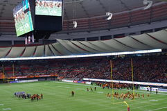 Stadium during American football game Royalty Free Stock Photography