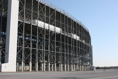 Stadium Architecture-Racetrack. A view of the backside architecture of a huge stadium Stock Image
