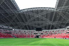 Stadium. Architecture and seat arrangement of stadium Royalty Free Stock Photography