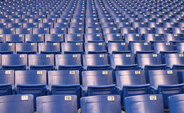 Stadium/Arena Seats Royalty Free Stock Images