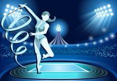 Olympics Paralympics Game Rio Brasil 2016 Stadium Background Summer Games Rhythmic  Royalty Free Stock Photography
