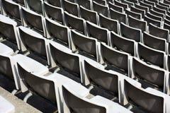 Stadium bench Royalty Free Stock Photography