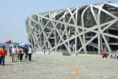 Stadium Bird's Nest in Beijing Stock Images
