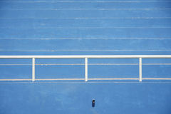 Stadium bleachers - blue Stock Photo