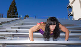 Stadium Bleachers Pushup Royalty Free Stock Photos
