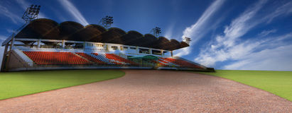 The stadium with blue sky Royalty Free Stock Image