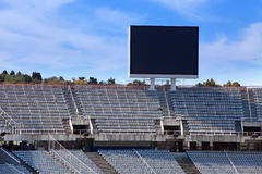 Stadium. Board above empty tribunes.Close up Royalty Free Stock Images
