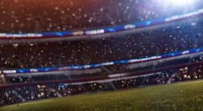 Stadium bokeh defocus. 3d render illustration. Soccer stadium fans bokeh defocus. 3d render illustration stock illustration