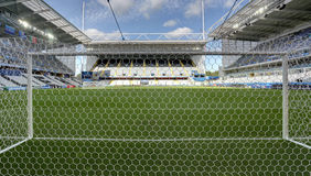 Stadium Bollaert-Delelis, Lens, France. Field of play without players and public Stock Photos